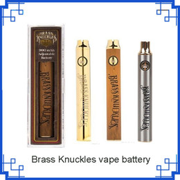 Discount thick brass knuckles - Brass Knuckles Battery 650mAh 900mAh Variable Voltage E-Cigarette 510 Thraed Thick Oil Cartridge vs vision spinner 2 bat