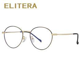 6138cf50ac Wholesale Prescription Frames NZ - ELITERA Alloy Glasses Frame Men Women  Vintage Round Prescription Eyeglasses Retro