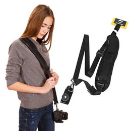 Wholesale Single Shoulder Belt Quick Strap Elasticity Sling Comfortable For SLR DSLR Cameras GT66