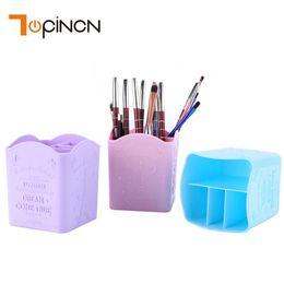 $enCountryForm.capitalKeyWord Australia - Plastic Make Up Organizer Storage Box Pencil Cosmetic Organizer Case For Eyeliner Lip Liner Pencil Pen Lipstick Home