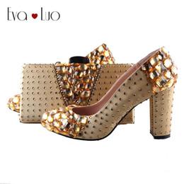 37ecc438d7 BS968 DHL Custom Made Gold Crystal Shoes with Matching Bag Set Block Heel  Women Dress Pumps Bridal Wedding Shoes High Heels