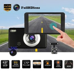 Wholesale 4 inch IPS Touch Screen FHD P Lens Car DVR Camera Video Recorder ADAS G sensor Dash Cam Automobile DVR Dash