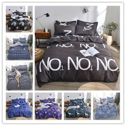 modern beds Canada - Modern Letter simple geometry printing Bedding sets 100% polyester Duvet Cover set King Queen Double Full Twin Single Size