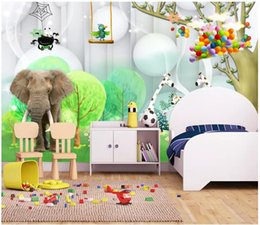 Kids Scenery Australia - Customized 3d murals wallpapers home decor Photo wall paper 3d elephant beautiful scenery children's room kids room fresh background wall
