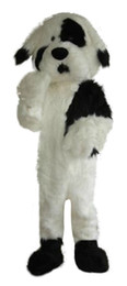 cartoon dog mascot NZ - Professional custom white and black dog Mascot Costume cartoon Jingba dog animal character Clothes Halloween festival Party Fancy Dress