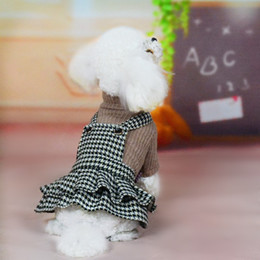 $enCountryForm.capitalKeyWord NZ - Blue Pet clothe Puppy Small Dog Cat Supplies Houndstooth Clothes for cheap Tutu Dress Princess Skirt Apparel Costume cute dog clothing xl