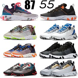 Wholesale New react element undercover outdoor shoes for men Habanero Red Orbit Moss Triple White Black Anthracite Light Beige designer sneakers