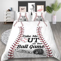 sports bedding sets NZ - Baseball Bedding Set Sport Style Fashionable Creative Duvet Cover White King Queen Twin Full Single Double Bed Cover with Pillowcase