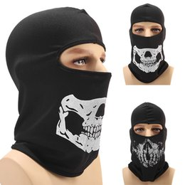 paintball helmet mask 2019 - Halloween Skull Full Face Mask Warmer Windproof Breathable Paintball Cycling Ski Shield Anti-UV Men Sun Hats Helmet chea