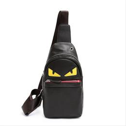 $enCountryForm.capitalKeyWord Australia - Unisex Sling Bag Little Monster PU Plain Backpack Simple Chest Bag Travel Single Cartoon Shoulder PU Trip Journey Waist Bags Pack 2019 Hot