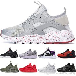 cool mens tennis shoes 2020 - Huarache Running Shoes 1.0 4.0 Mens Womens Designer shoes Triple White Dot Black Full Red Cool Grey Authletic Sports Sne