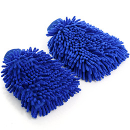 $enCountryForm.capitalKeyWord NZ - Free DHL 2019 Microfiber Car Wash Sponge Glove 8 Colors Premium Chenille Microfiber Soft Automobile Cleaning Sponge Mitt Kitchen Tools M126F