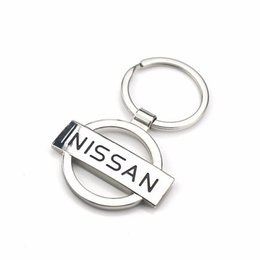 $enCountryForm.capitalKeyWord UK - Creative Gift Nissan Car Logo Hollow Mark Metal Key Button Waist Hanging Key Ring Chain Keychain Auto Parts Car-styling