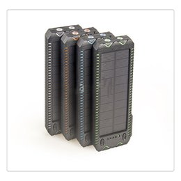 $enCountryForm.capitalKeyWord Australia - Portable Solar Power Bank Dual USB Port External Battery Charger 15000 mAh Built-in 2 LED Flashlight Waterproof Phone Charger for Emergency
