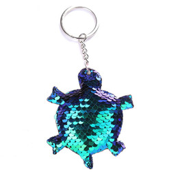 $enCountryForm.capitalKeyWord UK - Cute Turtle Shiny Keychain Sequins Key Chain Keychains for Women Cars Bag Accessories Pendant Key Ring porte clef