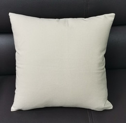 blank cotton cushion covers NZ - 17*17 inches Natural Canvas Pillow Case Undyed Cotton Throw Cushion Cover Blank Sofa Pillow Casefor hand-painting
