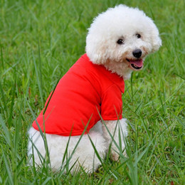 $enCountryForm.capitalKeyWord NZ - SF hot Fashion Dog Polo Shirts For Spring Summer Colorful Pet Clothes Poromeric Material For Small Baby Pet Easy Washing Factory Price