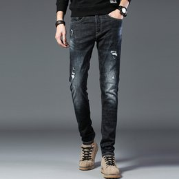 $enCountryForm.capitalKeyWord Australia - Four seasons new men's washed jeans youth Korean version of the trend of casual denim jeans trousers