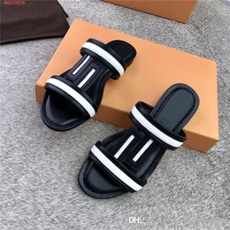 women black booties NZ - Women latest summer black brown pink leather slippers, color matching lazy sandals, light soft flat bottom sandals With original box