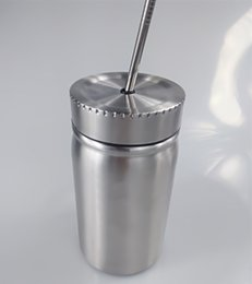 $enCountryForm.capitalKeyWord Australia - Stainless Steel Mason Tumbler Double Walled Mason Jar Water Bottle With straw and Leak Proof Lid Vacuum Easy to carry