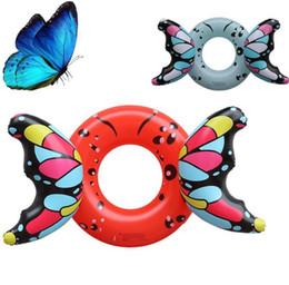 Swimming Pool Rafts Australia - wholesale floating water swim ring mattress inflatable pvc animal floats butteryfly tubes party beach toys swim pool raft boat