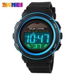 $enCountryForm.capitalKeyWord Australia - SKMEI 1096 Solar Power Watch Men Sport Watches Digital Masculino Waterproof Wrist Watch Relojes Homme