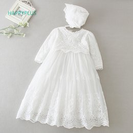 $enCountryForm.capitalKeyWord NZ - Happyplus Baby Dress Long Sleeve sleeveless Kids Second First Birthday Girl Party Gown For Bridesmaid Infant Baptism Dresses Y19050801