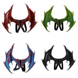 $enCountryForm.capitalKeyWord UK - Mardi Gras Cosplay Costume Dragon Wings PU Foam 3D Stereo Pure Color Child Devil Wing Eco Friendly Halloween Party Supplies 37sz E1