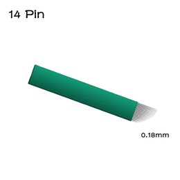 Pins Pack Australia - 200PCS Pack 14 Pin 0.18 mm Permanent Makeup Blade Microblading Needles for 3D Embroidery Manual Tattoo Pen