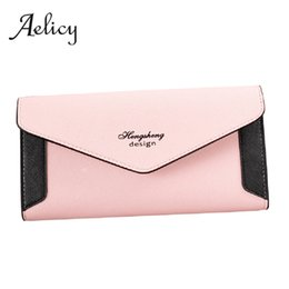 Daily Card NZ - Aelicy hit color Tri-fold hasp Long Wallet Women Flip Daily Clutch quality leather Money Card bags Female Purse Long Brand new