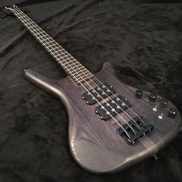 custom black bass guitar UK - Custom factory discount price, 4-string bass electric guitar, high quality custom