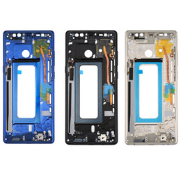 middle housing for note Australia - 10pcs DHL for Samsung Galaxy Note 8 Middle Frame Bezel Chassis Housing with SIM Card Parts