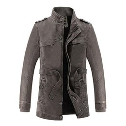 $enCountryForm.capitalKeyWord NZ - New Brand Men's PU Leather Jacket Thicken Winter Waterproof Man Fur Lining Cotton Trench Coats Windbreakers