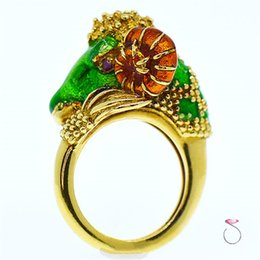 Goat rinGs online shopping - New Design Gold plated Three color Goat Ring Fashion Women Party Ring and Retail