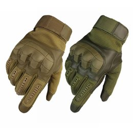 black yellow bicycle gloves Australia - Outdoor Tactical Gloves Army Military Bicycle Airsoft Hiking Climbing Shooting Paintball Camo Sport Full Finger Combat Gloves