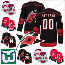 b94dd9a985f Custom Carolina Hurrican Hartford Whalers Hockey Jersey Stitched Any Name  Number 14 Justin Williams 20 Sebastian Aho 27 Justin Faulk S-3XL