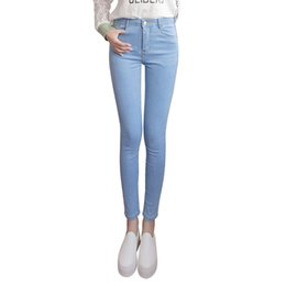 $enCountryForm.capitalKeyWord Australia - Women jeans Plus Size High Waist Stretch Washed Skinny Jeans Woman Denim Pants 2019 Pencil Light Blue Gray Black dropshipping
