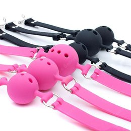 $enCountryForm.capitalKeyWord Australia - Free Shipping!S  M L Size Full Silicone Ball Gag for Women Adult Game Head Harness Mouth Gagged Bondage Restraints Sex Products Sex Toy