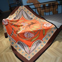 Designer Double Beds Australia - Luxury designer brand comfortable bedding blanket geometric patterns double layer thicken soft blanket shawl Christmas new Year gift 2019