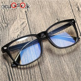 Black Blocks Australia - Blue Light Blocking Glasses Women Men Vintage Eyeglass Woman Frame Oversize Square Black Men Optical Computer Reading Eyeglasses