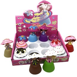 Cupcakes Girls Australia - Cupcake Scented Princess Doll Reversible Cake Debbie Lisa Etude Britney Magic Toys for Girls Cake Princess Toys