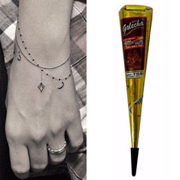 Beauty & Health Hearty Hot Henna Waterproof Tattoo Cones Brown Color Women Body Hands Finger Legs Diy Drawing Brown White Blue Color Tattoo Cream Cone Convenience Goods