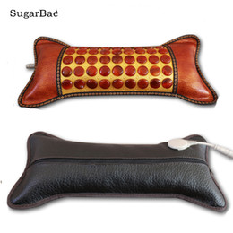 Tourmaline agaTe online shopping - Jade Electric Heating Pillow Agate Neck Tourmaline Germanite Stone Sleep Pillow Cervical Pillow for Health
