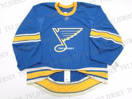 St Louis Blues Jerseys Australia - Cheap custom ST. LOUIS BLUES NEW THIRD JERSEY GOALIE CUT 60 stitch add any number any name Mens Hockey Jersey