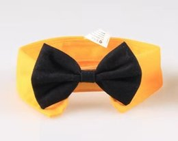 $enCountryForm.capitalKeyWord Australia - DHL Formal Pet Bow Tie Holliday Wedding Dog Collar Dog Clothing Costume Accessories Black yellow for Small Medium Cats Dogs Pets