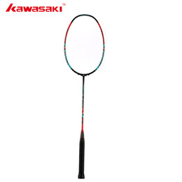 free gift kawasaki 2019 - Kawasaki Badminton 3U High Rigidity Carbon Fiber Tension 666 Ad Badminton Racket High Tension G5 Tennis Racket With Free