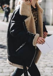 Faux motorcycle jacket online shopping - 4 Colors Women Motorcycle Jacket Faux Suede Fur Coats Warm Fleece Outwear Coat Winter Ladies Jackets Zipper Overcoat CCA10919