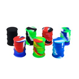 Oil Barrel Drum NZ - The high quality Non-stick FDA approved silicone container 26ml silicone oil barrel container jars Silicone Oil Drum dab ecig concentrate