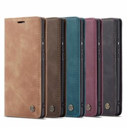 Oneplus Wallet Canada - Caseme Leather Wallet Case For Huawei P20 Pro P30 Lite Oneplus 7 Xiaomi MI 9 Magnetic Stand Flip Skin Cover Fashion Pouch Luxury Vintage