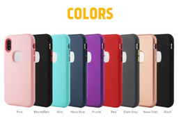 Defender Case Iphone Quality Australia - Matte Finish 3 in 1 Hybrid Defender Phone Cases high-quality For iPhone XR XS MAX Samsung Galaxy Note 9 J3 J7